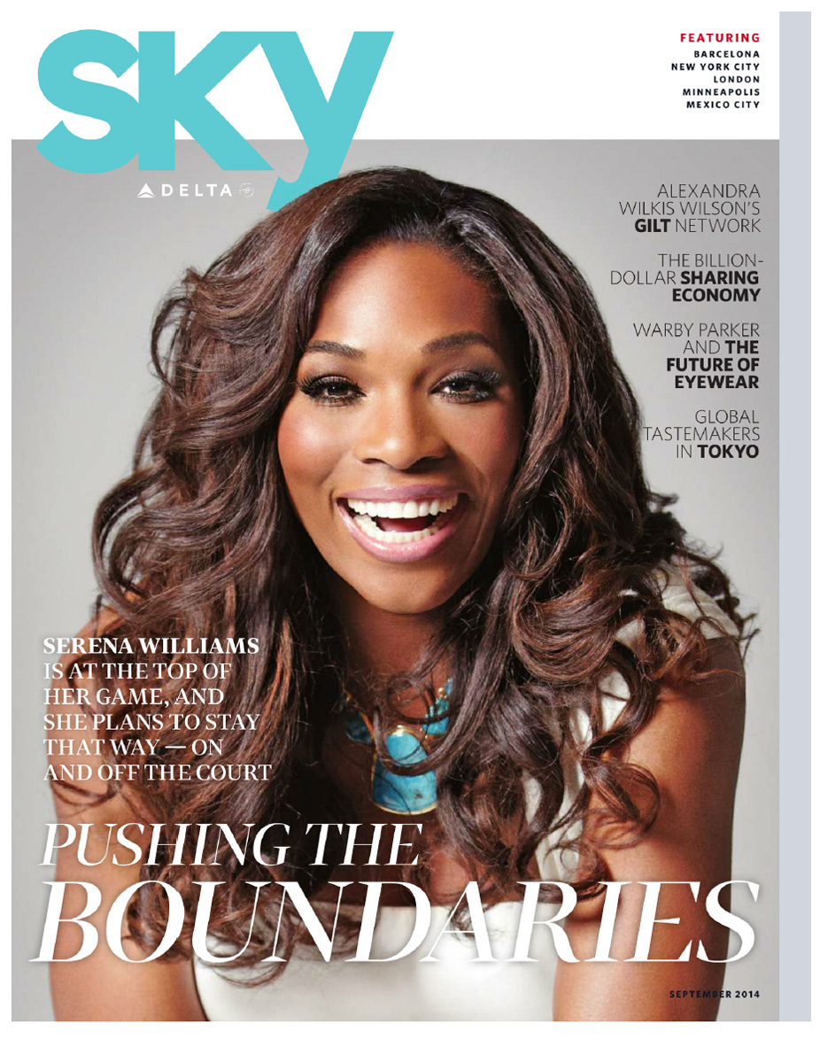 Delta Sky Magazine - Serena Williams  © Elisabeth Caren