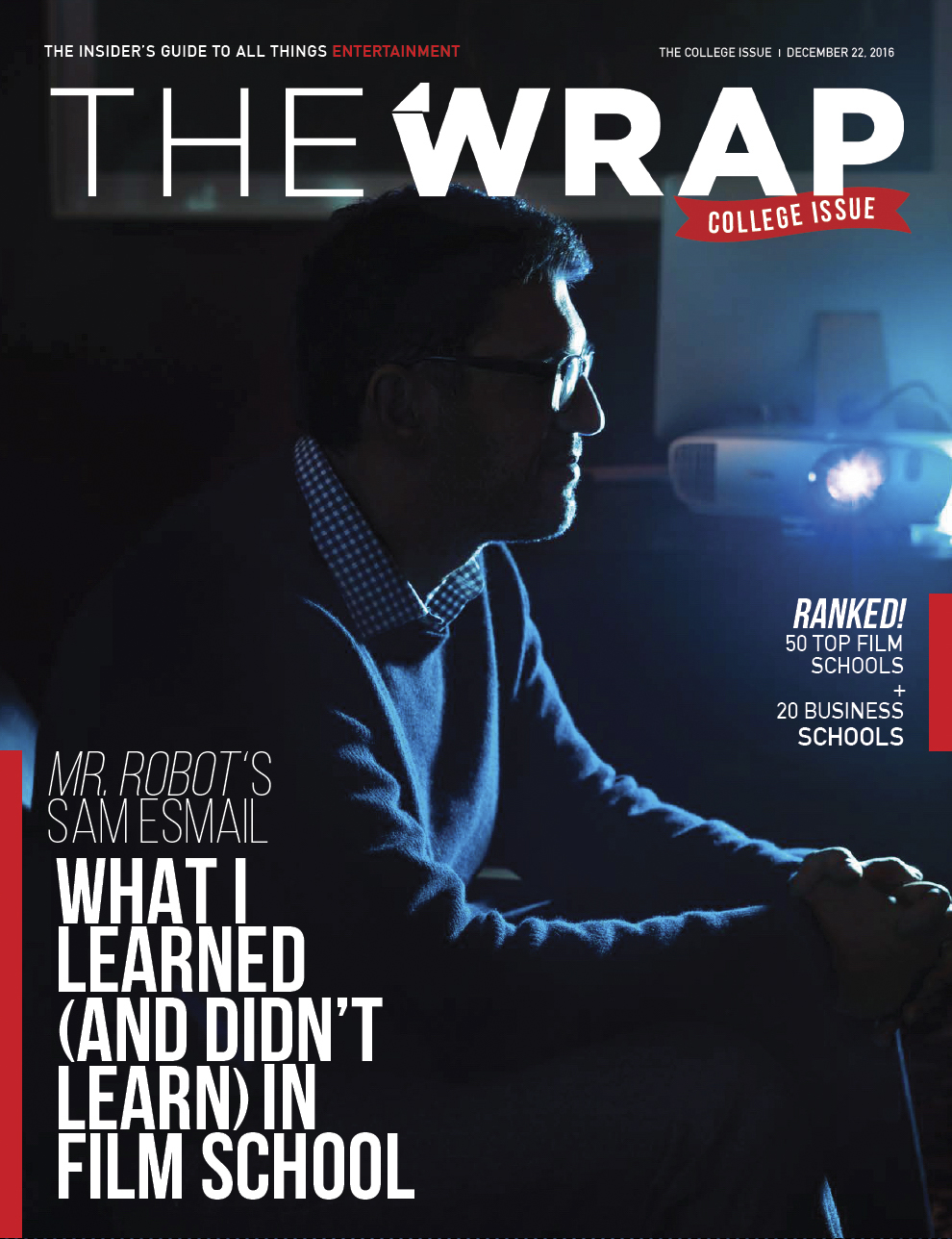 THE WRAP SAM ESMAIL COVER ELISABETH CAREN